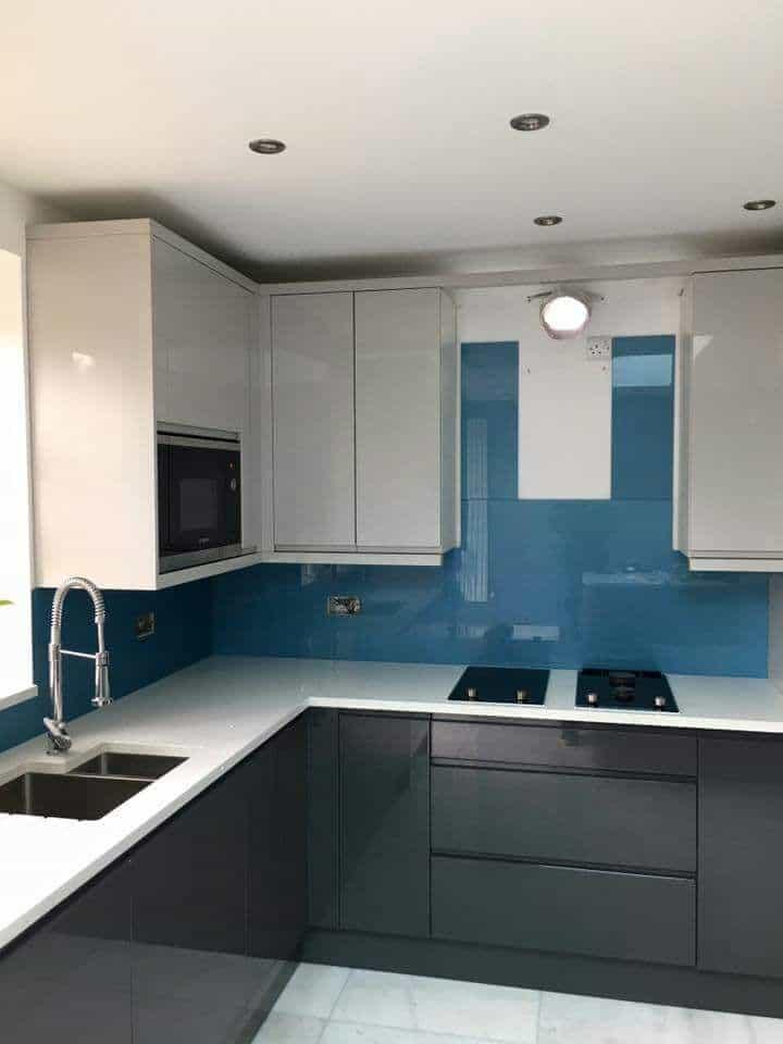 glass splashback Kent, quartz worktops, quartz countertops,