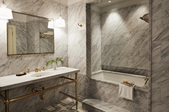 marble bathroom, clacatta marble bathroom