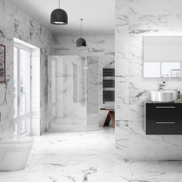 marble worktops and floors