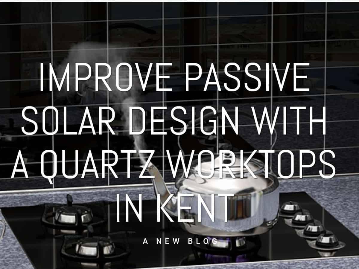 Quartz worktop in Kent