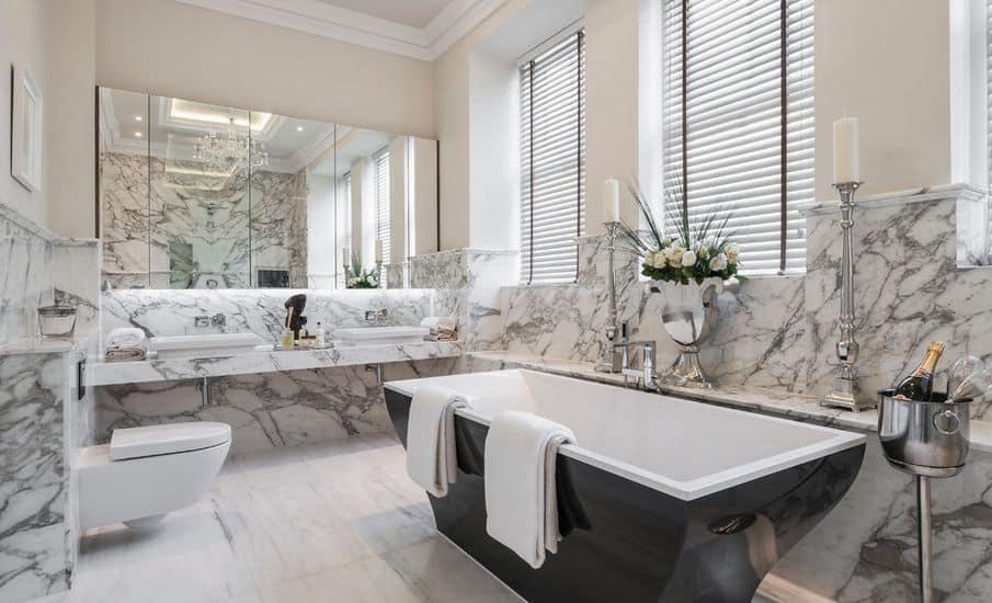 Marble bathroom, marble bathroom worktops, Palazzo Stone