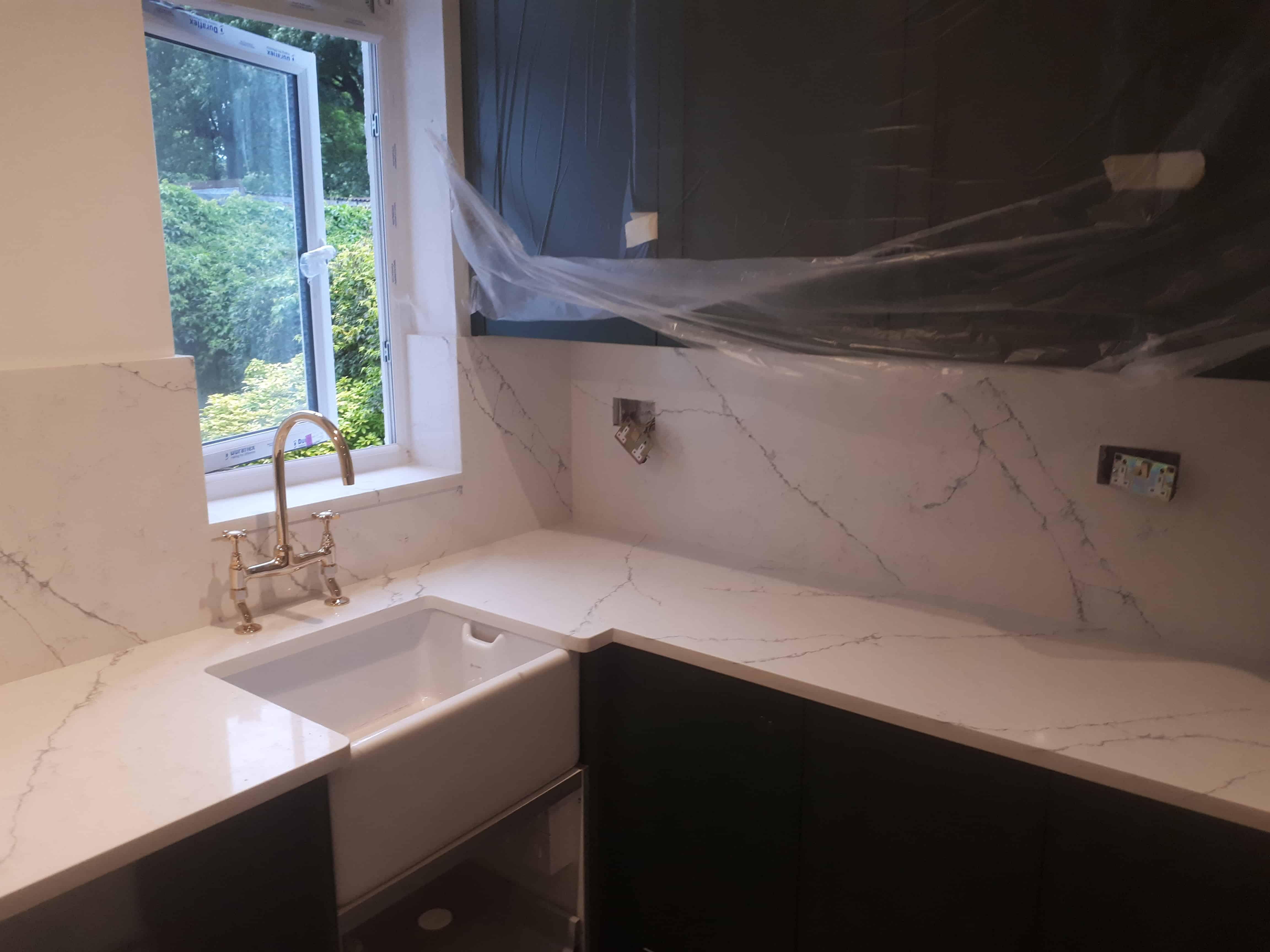 alaska bianco, classic alaska bianco, classic quartz alaska, quartz worktops London, granite worktops London
