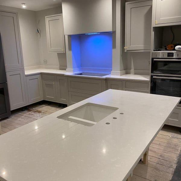 commercila quartz worktops installation
