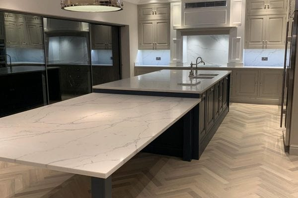 veins quartz worktop
